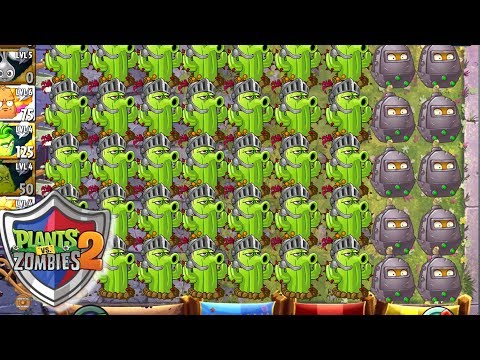 Plants vs Zombies 2 Knight Cactus Battlez with Multiplayer Brick League - Plantas Contra Zombies 2