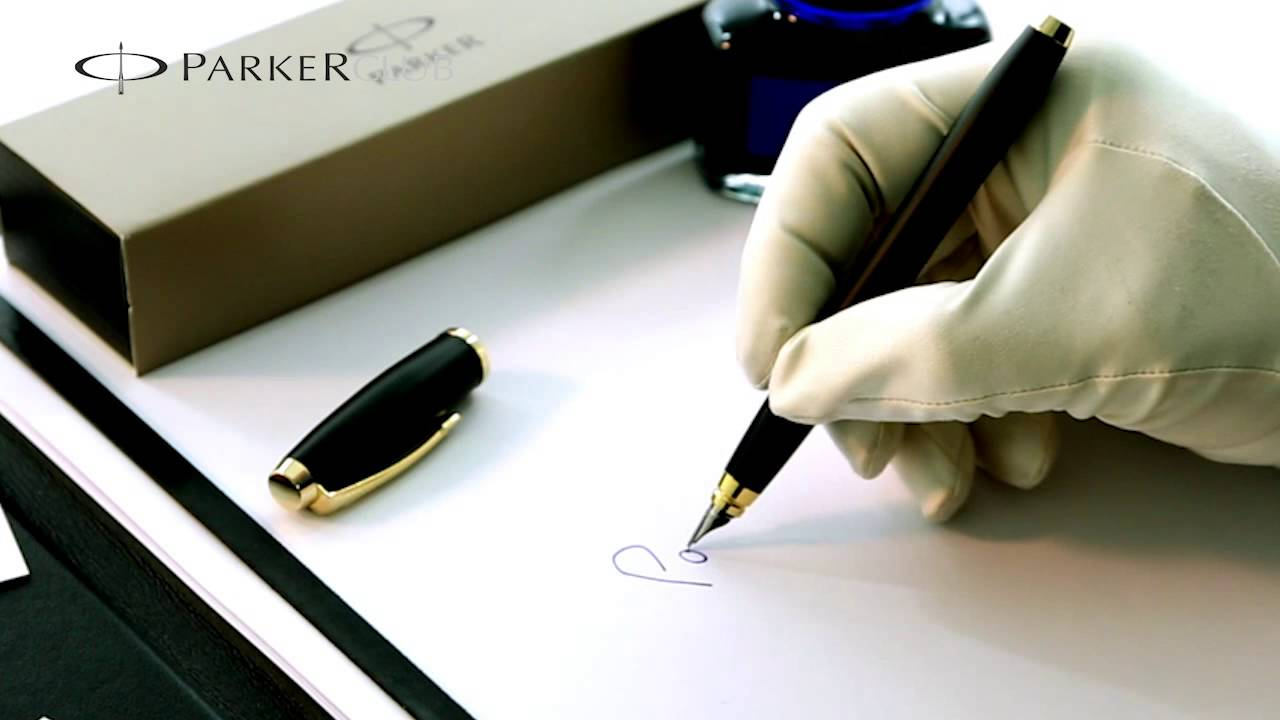 Parker Duofold blue marble fountain pen review - YouTube