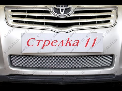 Защита радиатора TOYOTA AVENSIS II рестайлинг 2006 2008г.в. Хром strelka11.ru