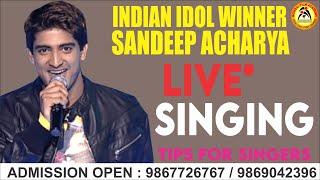 Sandeep Acharya Indian Idol Winner at Mumbai Film Academy.