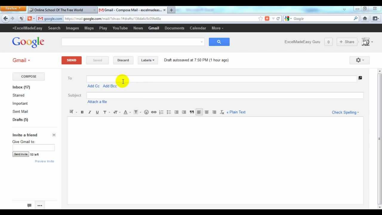 Send a Picture - File with Gmail (English) - YouTube