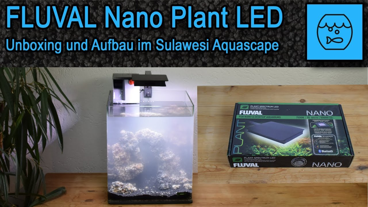 Led Licht Für Nano Aquarium Fluval Nano Plant Led Bluetooth App Unboxing Lamp For The Sulawesi Aquascape Set Up Operation