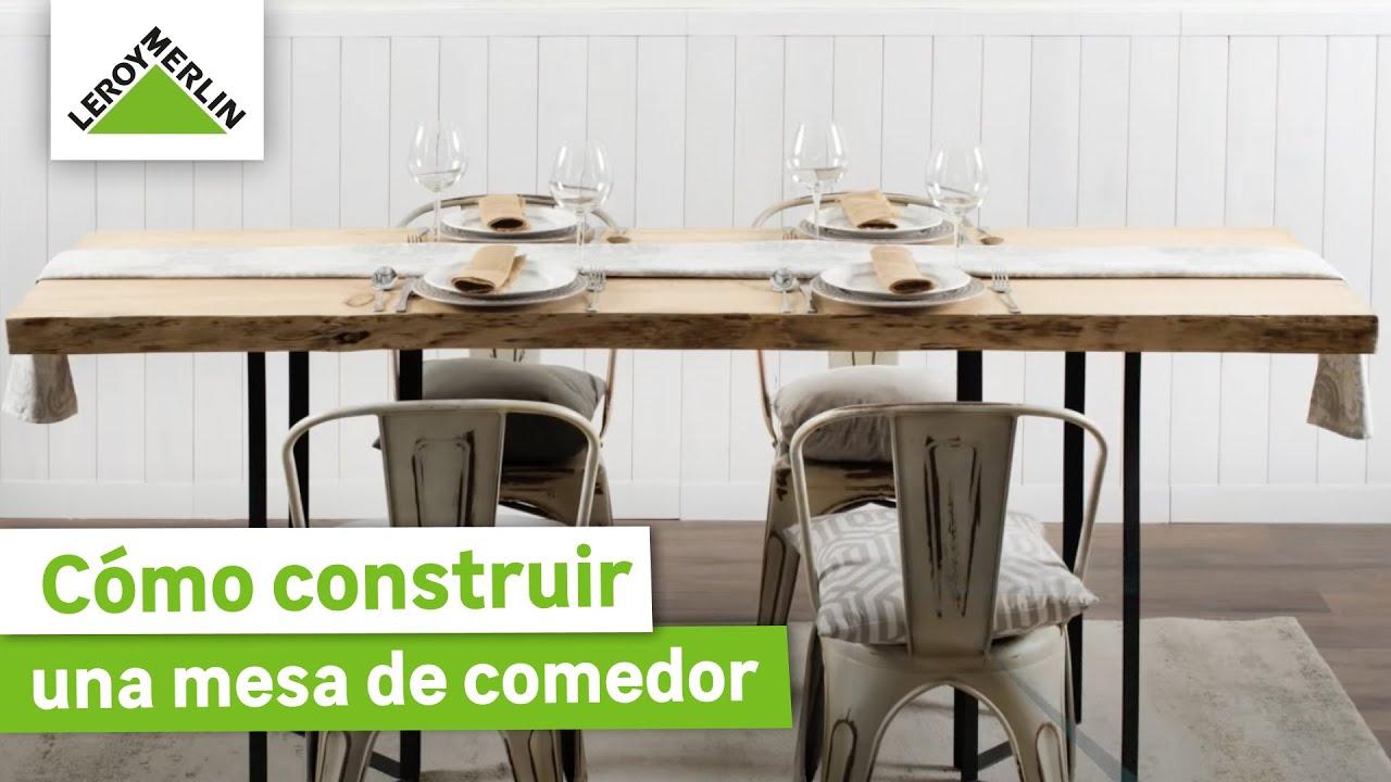 Cómo construir una mesa de comedor para tus reuniones · LEROY MERLIN