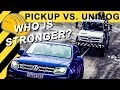RIDICULOUS! UNIMOG PULLED BY PICKUP TRUCKS! | VW Amarok V6, Ford Ranger, Hilux, Nissan Navara, D-Max