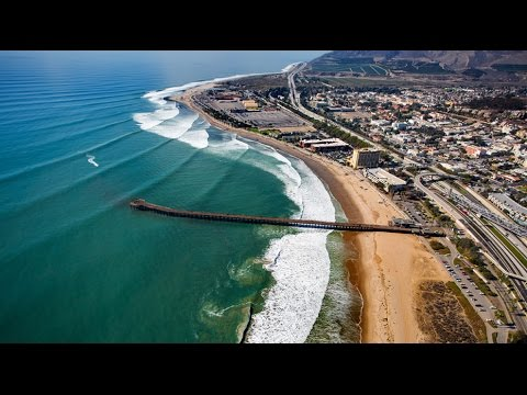 Surfers' Point Park, Ventura, CA - Aerial Views in 4K