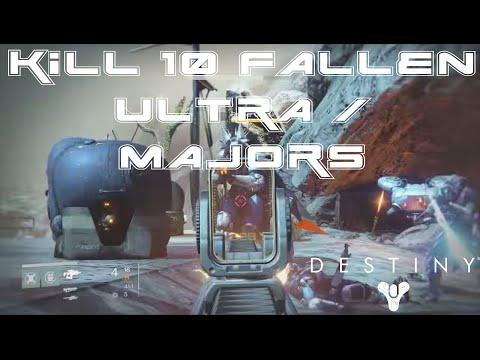 Destiny: Fallen Bounty - Where to Kill 10 Fallen Majors or Ultras in 10 Minutes (Fast Respawns)