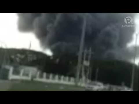 Up close look at Yokohama tire factory fire