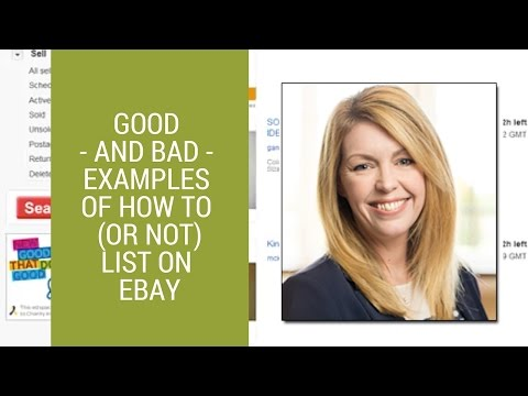 eBay selling tips: Examples of 'good' and 'bad' eBay listings