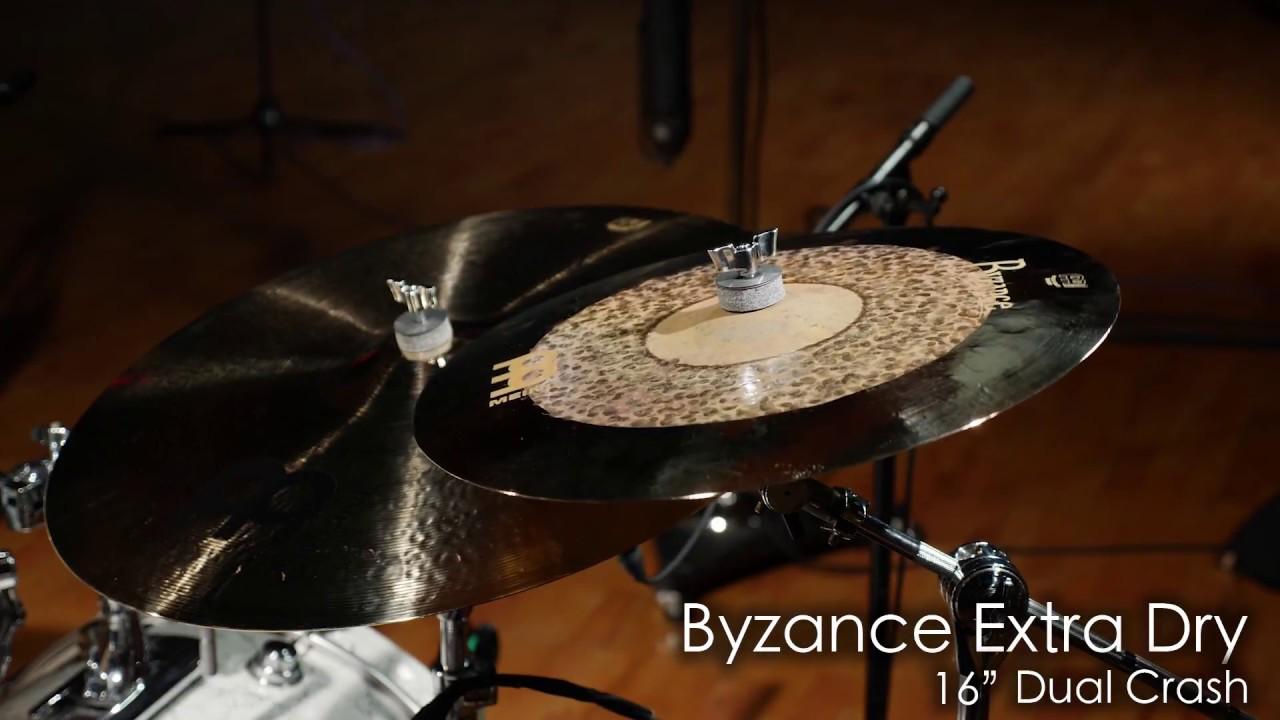 VIDEO Meinl Cymbals B16DUC Byzance Extra Dry 16-Inch Dual Crash Cymbal