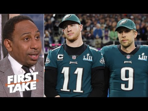 Stephen A. slams anonymous criticism of Eagles QB Carson Wentz for lack of substance | First Take