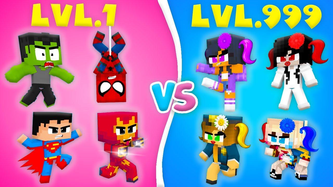 Monster School : SUPERHEROES CROOK vs BOSS LOVE CURSE Hulk Ironman Girl Zombie - Minecraft Animation