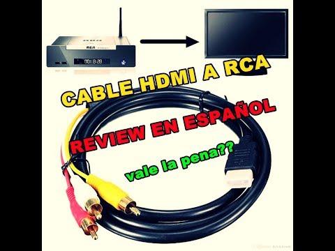 CABLE HDMI A RCA   REVIEW EN ESPAÑOL !!