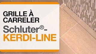 Comment installer la grille à carreler Schluter®-KERDI-LINE