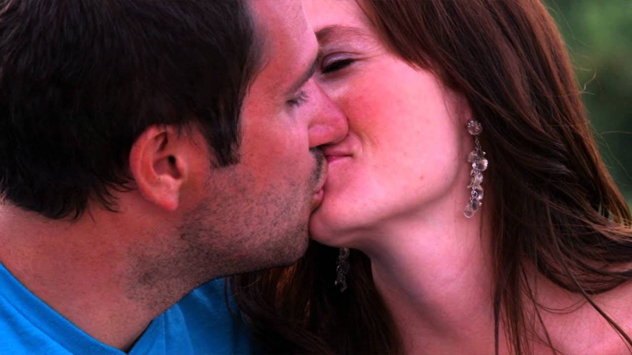 Couple lip kiss image