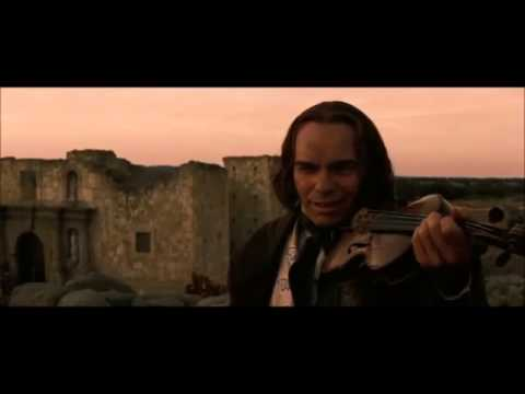 Davy Crockett playing violin scene (The Alamo) [subtitles]