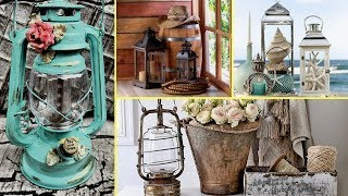 💙 DIY Rustic & Shabby chic Candle Lantern decor Ideas-Home Decor 2017💙