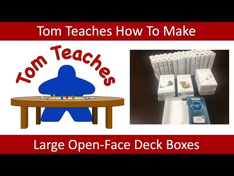 Tom Teaches Making Large Deck Boxes