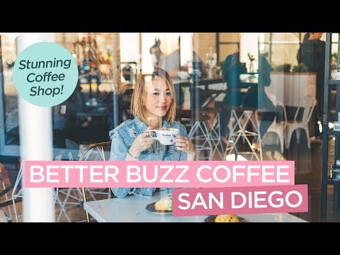 Better Buzz Coffee - Gorgeous Coffee Shop in Hillcrest San Diego California - Get the Rose Latte!