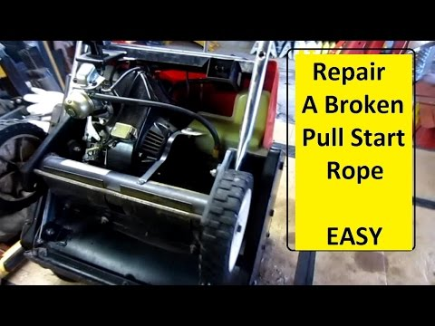 A Slick And Quick Way To Fix A Broken Pull Start Cord O