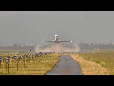 AMAZING Bulgarian Air Charter MD-82 head-on takeoff at Graz Airport | LZ-LDN