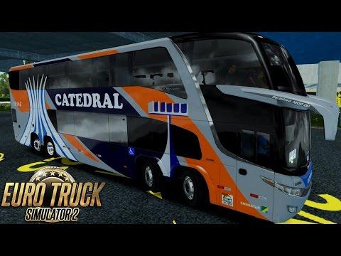 Euro Truck Simulator 2 Mod Bus | Catedral - Goiânia/São Paulo - EAA + Detail Map