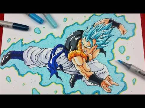 Drawing GOGETA Super Saiyan BLUE | Dragonball Super | TolgArt