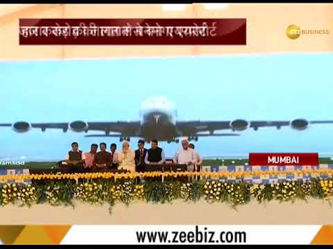 PM Modi lays foundation stone of the Rs 16,700-crore Navi Mumbai International Airport