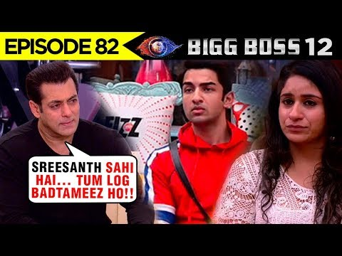 Salman Khan LASHES OUT On Surbhi And Rohit | Supports Sreesanth | Bigg Boss 12 Episode 82 Update