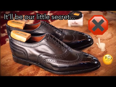 MY SECRET TO SHINING BLACK SHOES: SHINE TUTORIAL AND DONATION: Allen Edmonds McAllisters