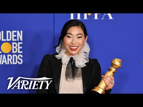 Awkwafina Makes History at the Golden Globes - Full Backstage Speech
