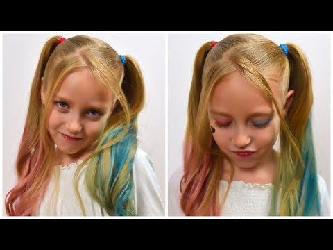 Harley Quinn Hairstyle & Make Up Tutorial | DIY Halloween Hairstyle 2019 #LGH thumbnail