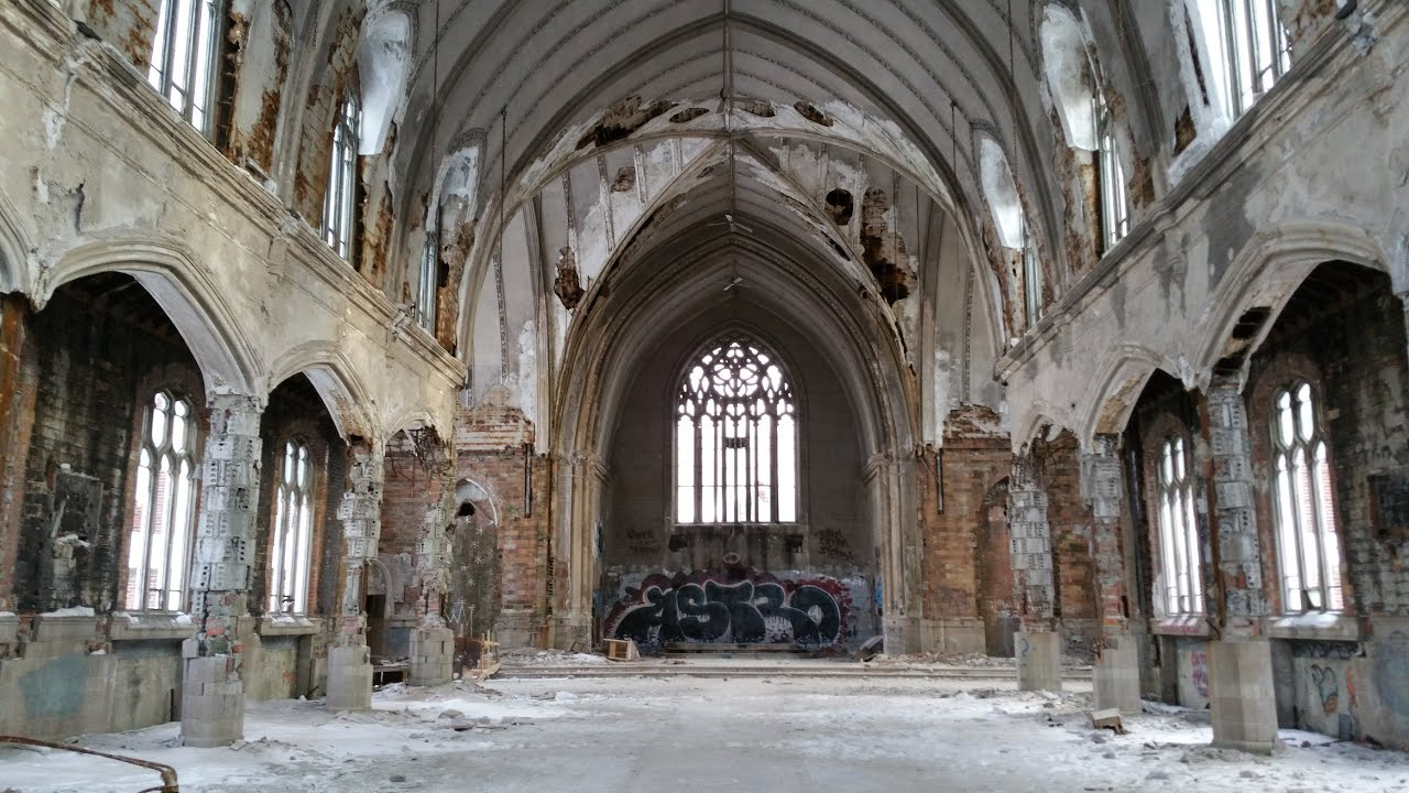 The Vacant St Agnes Catholic Church Detroit Michigan