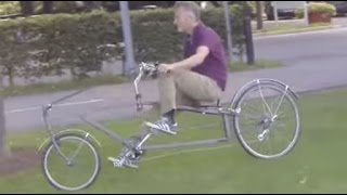 Bicycle of the future - amazing home made recumbent HPV with the best steering ever