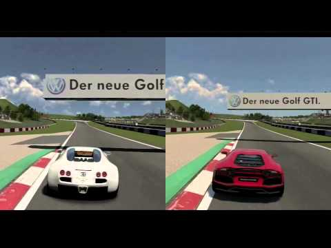 gt6 bugatti veyron vs lamborghini aventador nurburgring comparison youtube. Black Bedroom Furniture Sets. Home Design Ideas