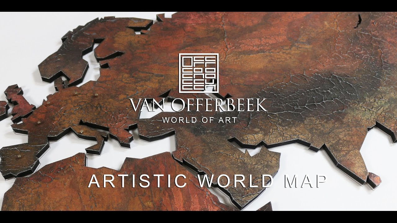 Worlds most artistic exclusive world maps youtube art magnetic artwork gumiabroncs Choice Image