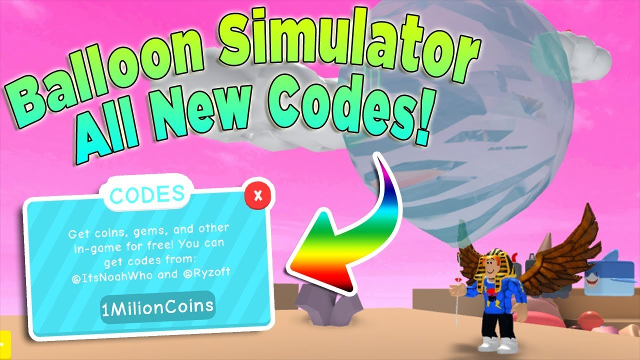 All New Dino Op Codes Roblox Balloon Simulator Youtube