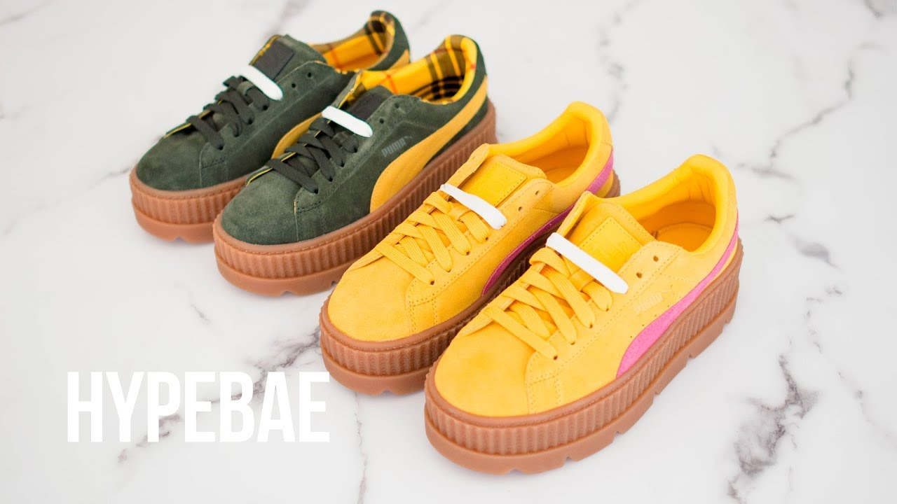 the latest 6a5d1 f32d3 Rihanna's Fenty PUMA Cleated Creeper Unboxing