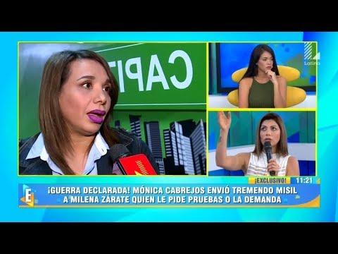 ¡BRONCAZA! MONICA CABREJOS DISPARA CONTRA MILENA ZARATE, PERO LA COLOCHA LA DESTRUYE EN VIVO
