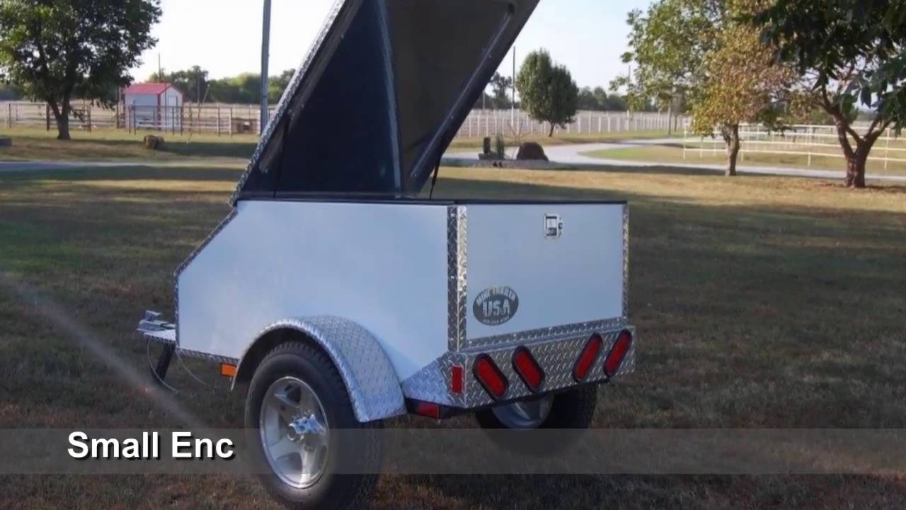 Small Cargo Trailers >> Small Enclosed Cargo Trailers For Sale Youtube