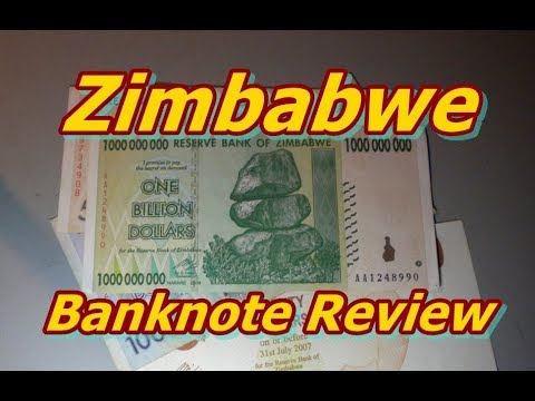 One Billion Dollars Zimbabwe Banknote Review