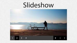 como hacer un slideshow para un sitio web con html css y js