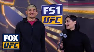 Max Holloway talks with Megan Olivi about his health before his title defense | INTERVIEW | UFC 231