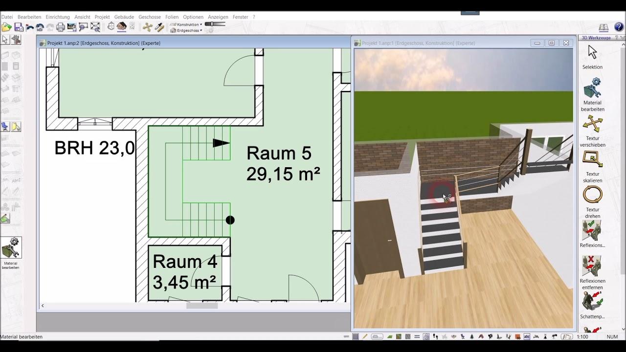 Treppe Zeichnen Anpassen Textur Anpassen Mit Dem 3d Architekt Von