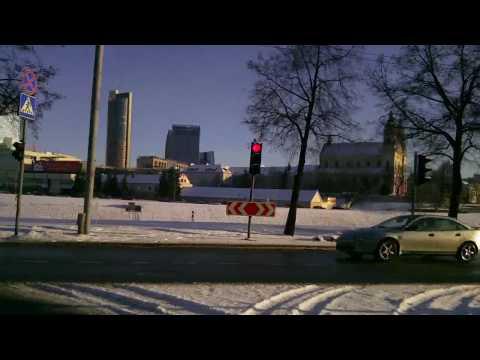 Weather in Vilnius, Lithuania, 2010-03-17, temperature - minus 1 C from Oras TV