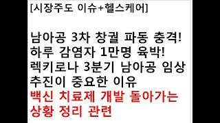 [시장주도 이슈+헬스케어]남아공 3차 창궐 파동 충격!…