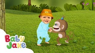 Baby Jake - Dancing With Monkey!   Full Episodes   Yaki Yaki Yogi   Cartoons for Kids