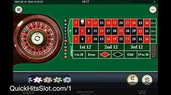 Online Casino Roulette - Win At European Roulette