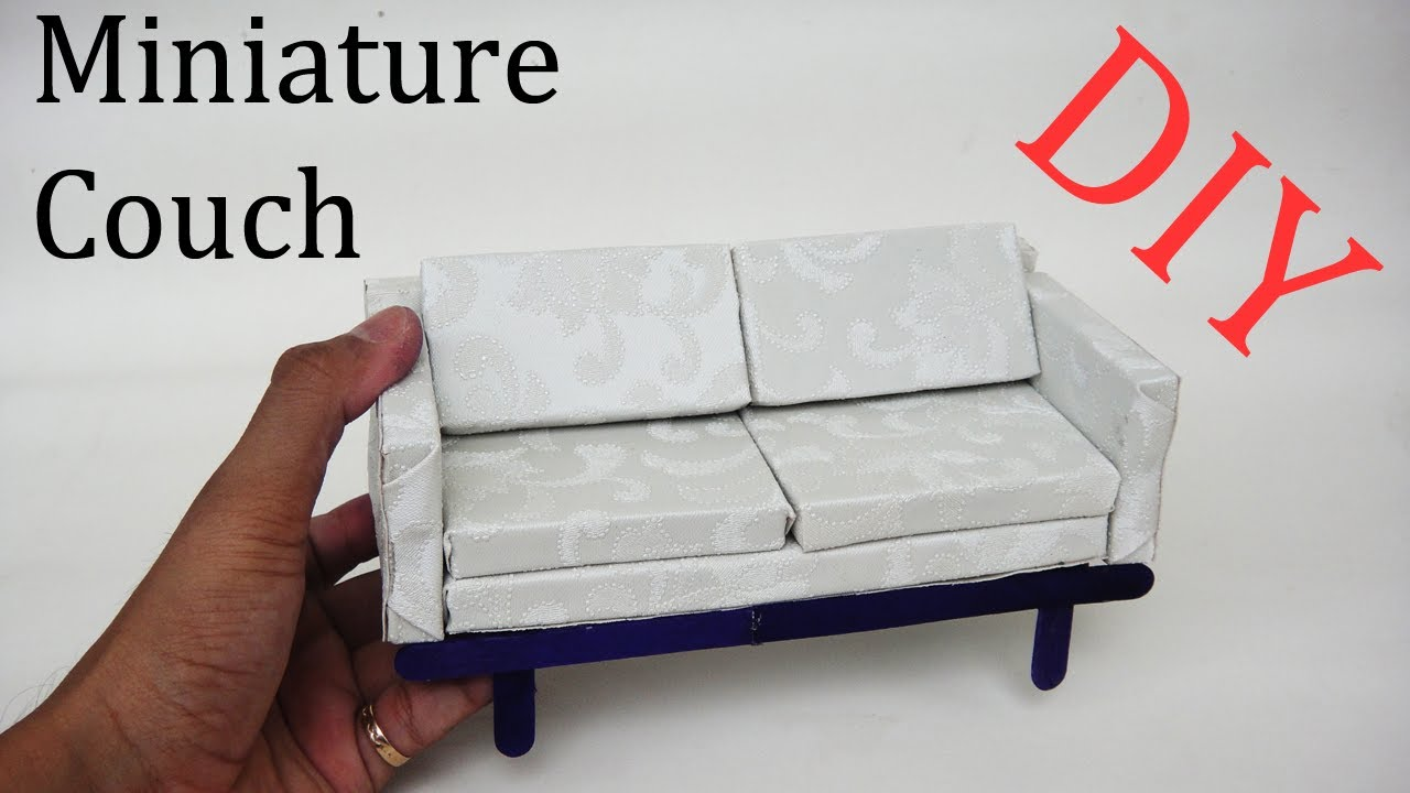 wooden depositphotos photo stock sofa couch dollhouse miniature handmade
