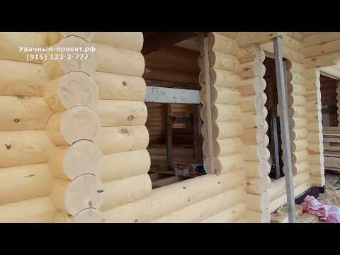 Дом из оцилиндрованного бревна. Качество сборки из Вологодского леса. Часть 5.