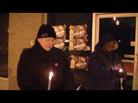 Dec. 6, 2009 Winnipeg Vigil with Kevin Rebeck